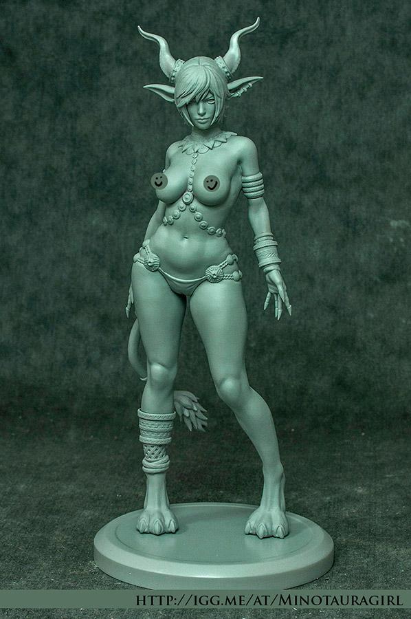 Minotaura-Girl Figurine (Raw Version) by ZombieSandwich