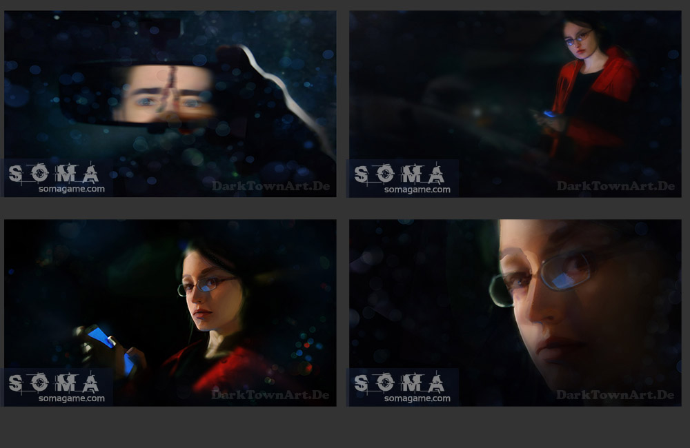 SOMA Intro screens by ZombieSandwich
