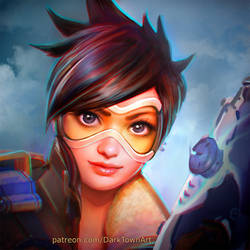 Tracer Overwatch by ZombieSandwich