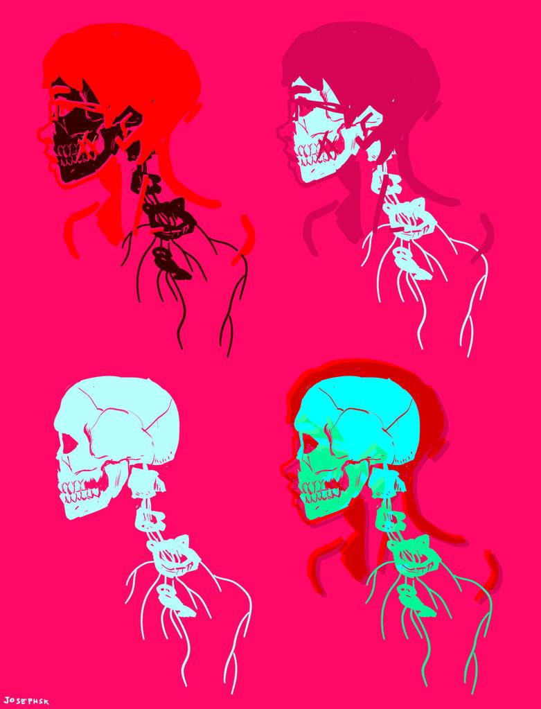 4 skull by JOSEPHSK
