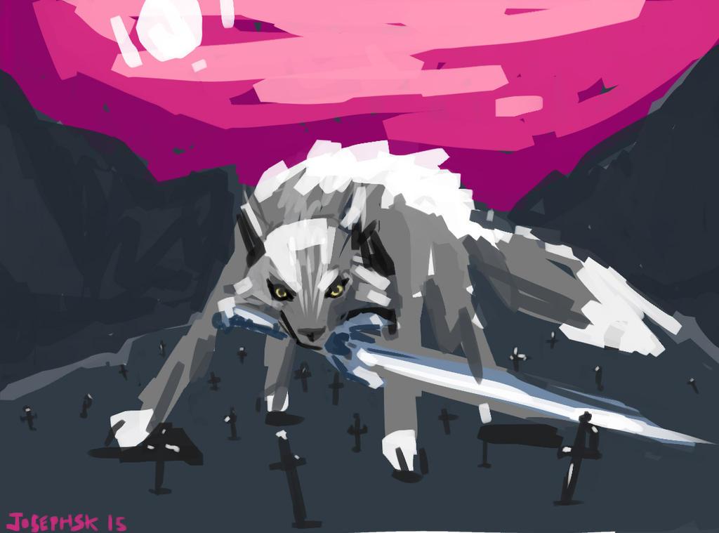 not an ok grey wolf or a pretty good grey wolf by JOSEPHSK