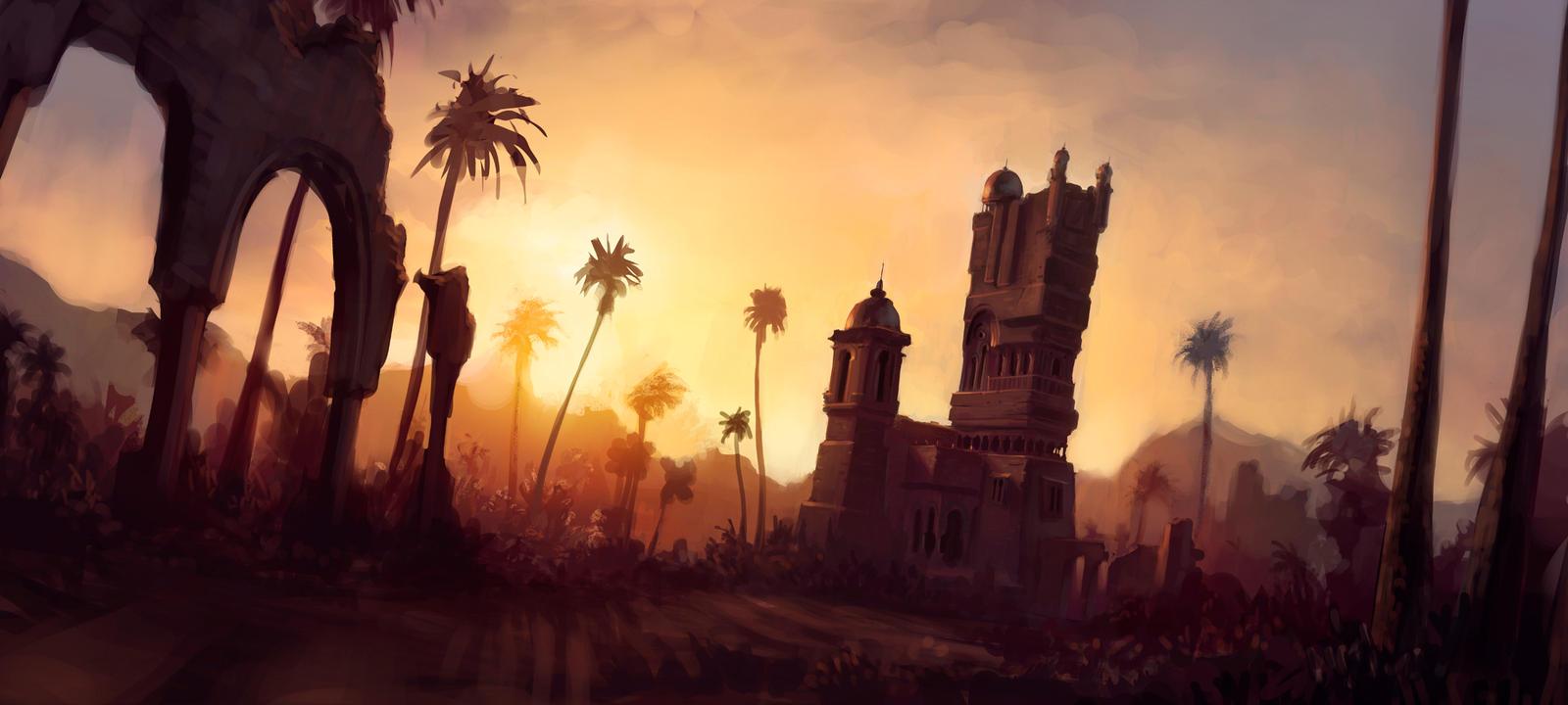 Desert Tower by JoshEiten