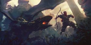 Dragon Chase Speedpaint by JoshEiten