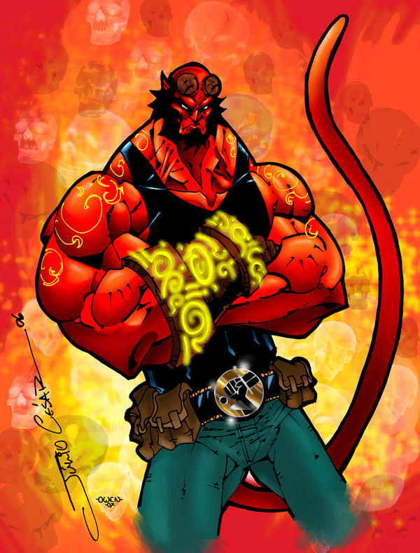 HELLBOY COLORED by Dreekzilla