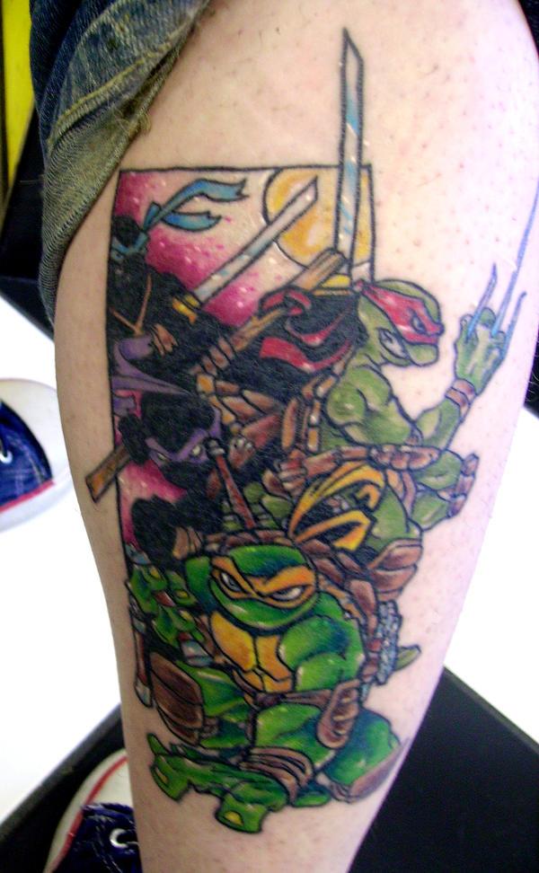 Ninja turtles tattoo by dreekzilla on deviantart for Ninja turtles tattoo