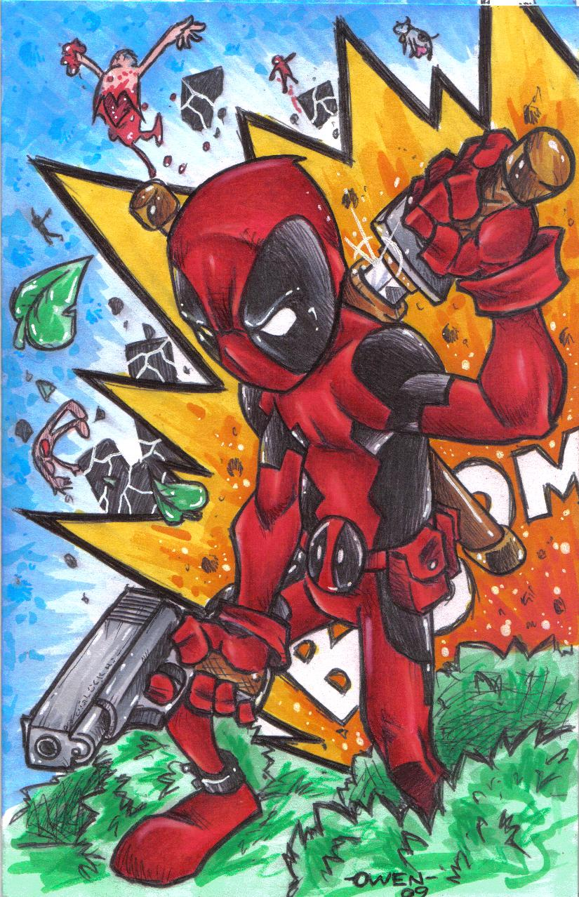 Bic Pen Deadpool Colored by Dreekzilla
