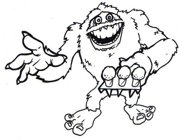 Abominable Snowman By Dreekzilla On Deviantart Abominable Snowman Coloring Pages