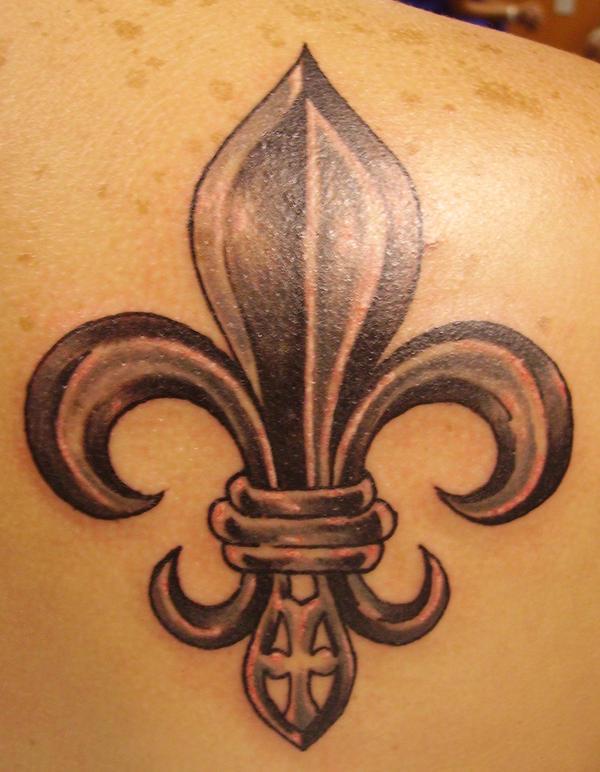 Fleur De Lis Back Tattoo by Dreekzilla on deviantART