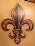 Fleur De Lis Back Tattoo