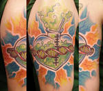 Sacred SCIENCE Heart Tattoo