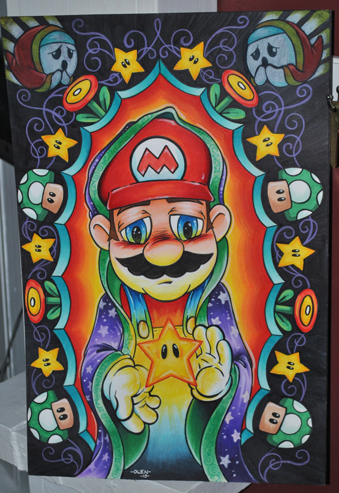 Virgin Mario by Dreekzilla