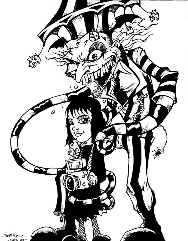 Beetlejuice and lydia by dreekzilla on deviantart for Lydia coloring page