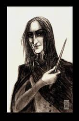 Severus Snape by Mothwomang