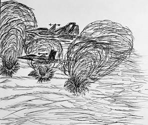 Desert warfare (black and white)