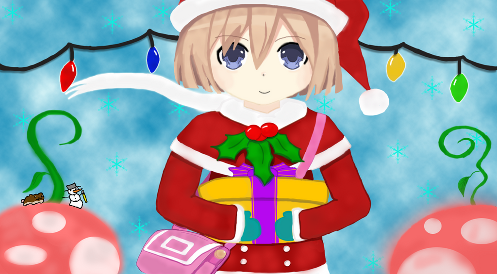 Hyperdimension Neptunia Rom Christmas Outfit. by utterness