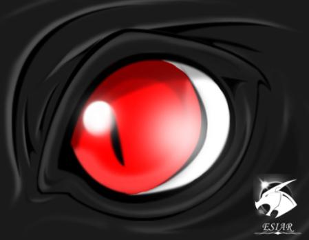 Dragon Red Eye by Esiar