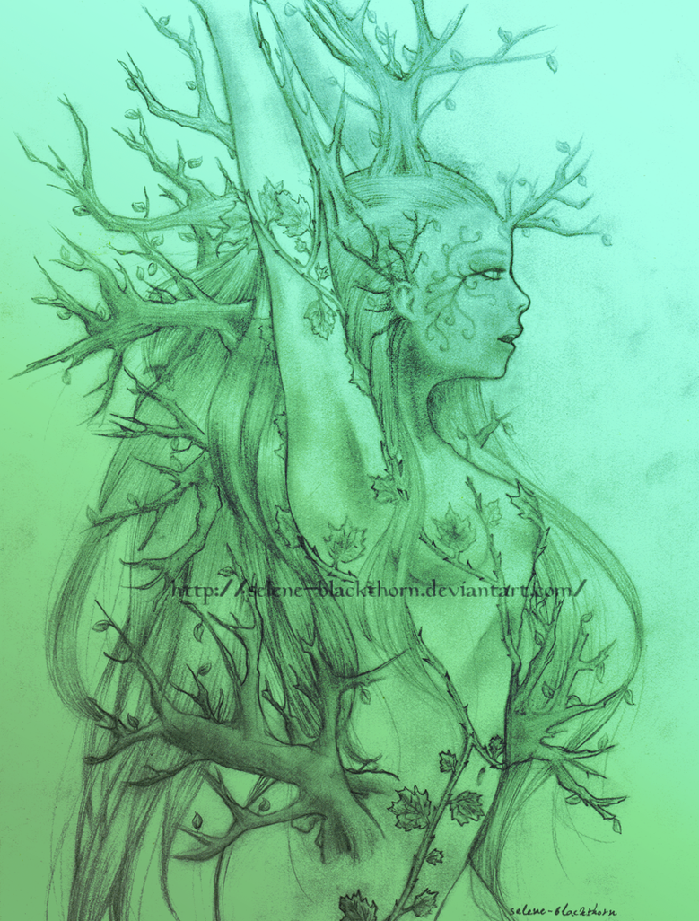 Forest Goddess WIP by Selene-Blackthorn