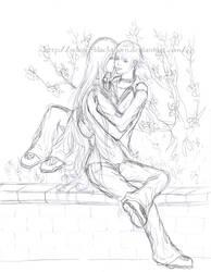 Muzica-chan - commish1- sketch by Selene-Blackthorn