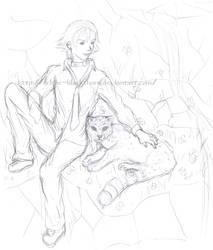 Muzica-chan - commish2- sketch by Selene-Blackthorn