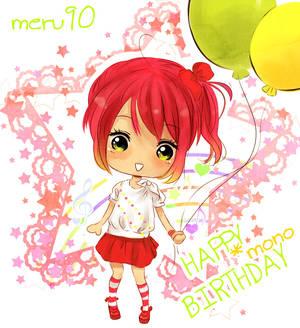 HAPPY BIRTHDAY MONO