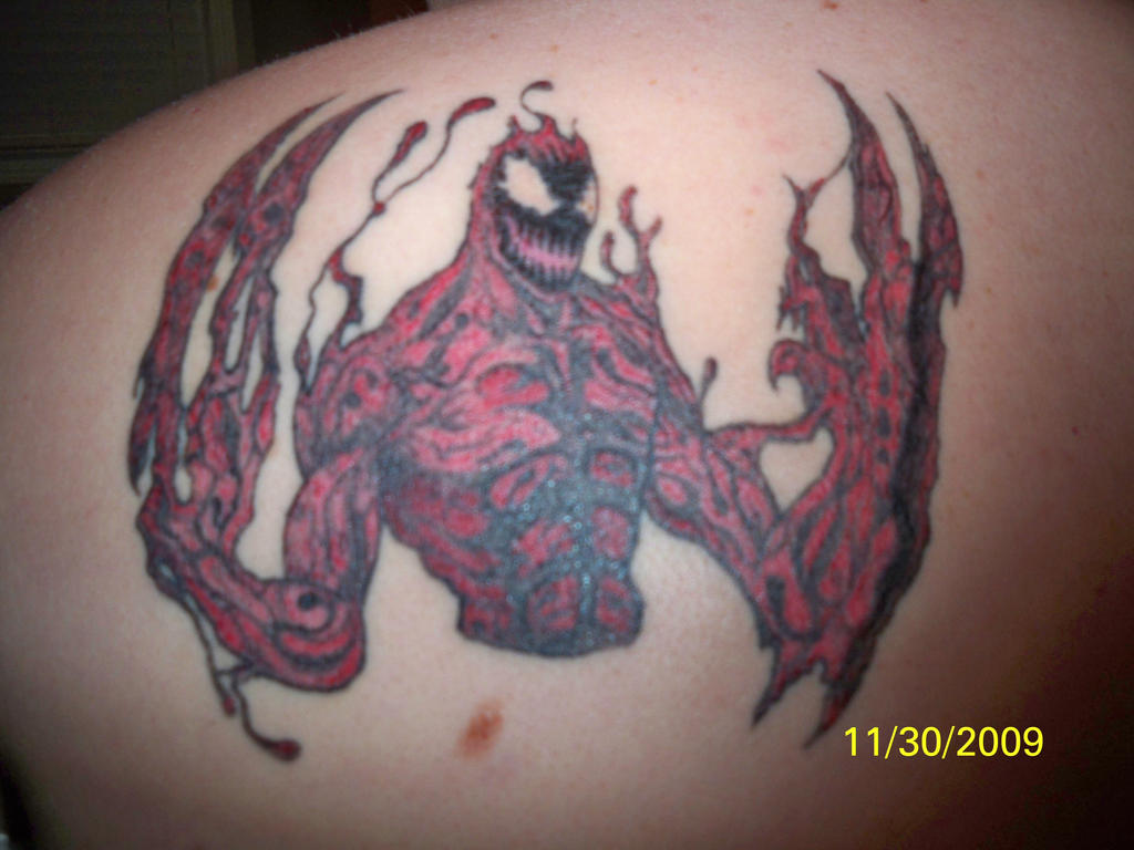 Venom Carnage Tattoo: Carnage Tattoo By Vicious420 On DeviantArt