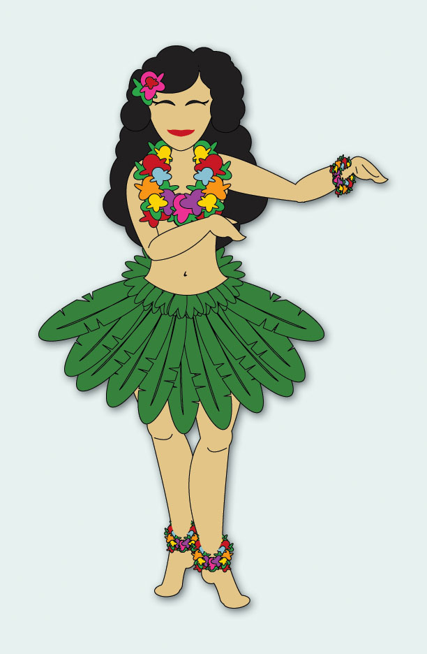 Hula Girl By Cake Ideas And Designs