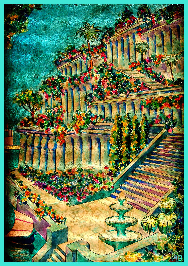 The Hanging Gardens Of Babylon By Feather802 On Deviantart