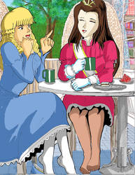 princesses Elvina and Zoe by Ropeandfeet