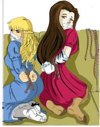 The royalty Tied, Elvina y Zoe by Ropeandfeet