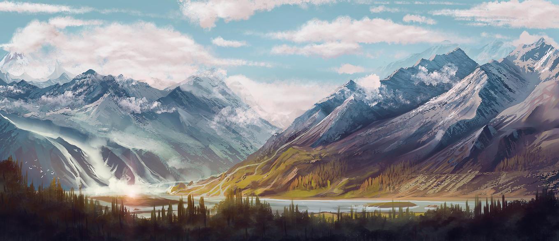 Landscape practice by Nixri