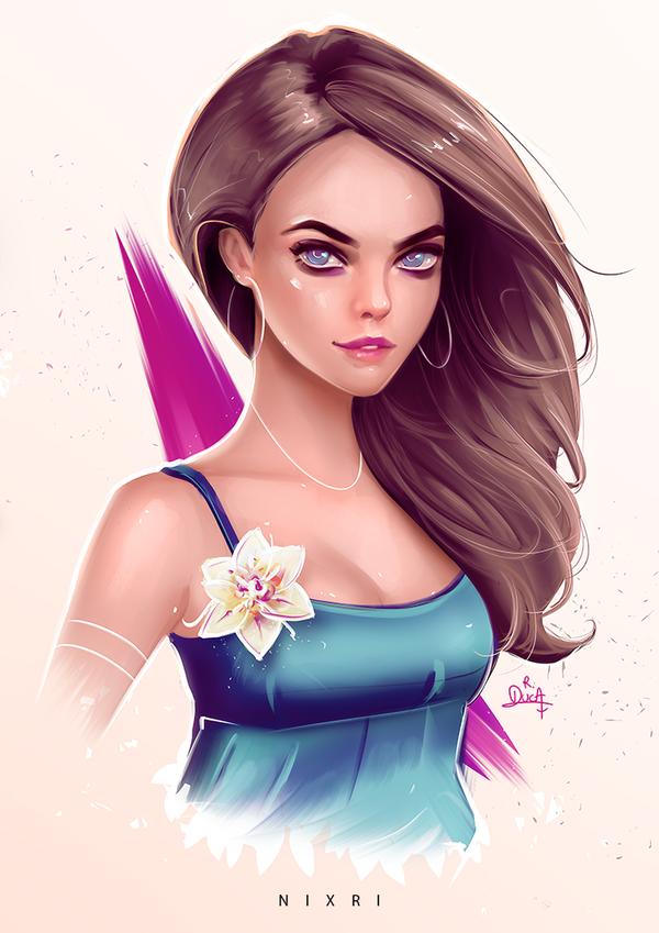 Stylized Portrait #16 by Nixri