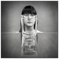 portrait with vase