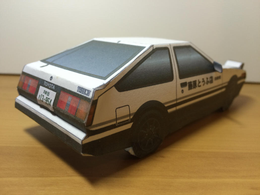 initial d toyota ae86 trueno papercraft by zhyper2 on deviantart. Black Bedroom Furniture Sets. Home Design Ideas