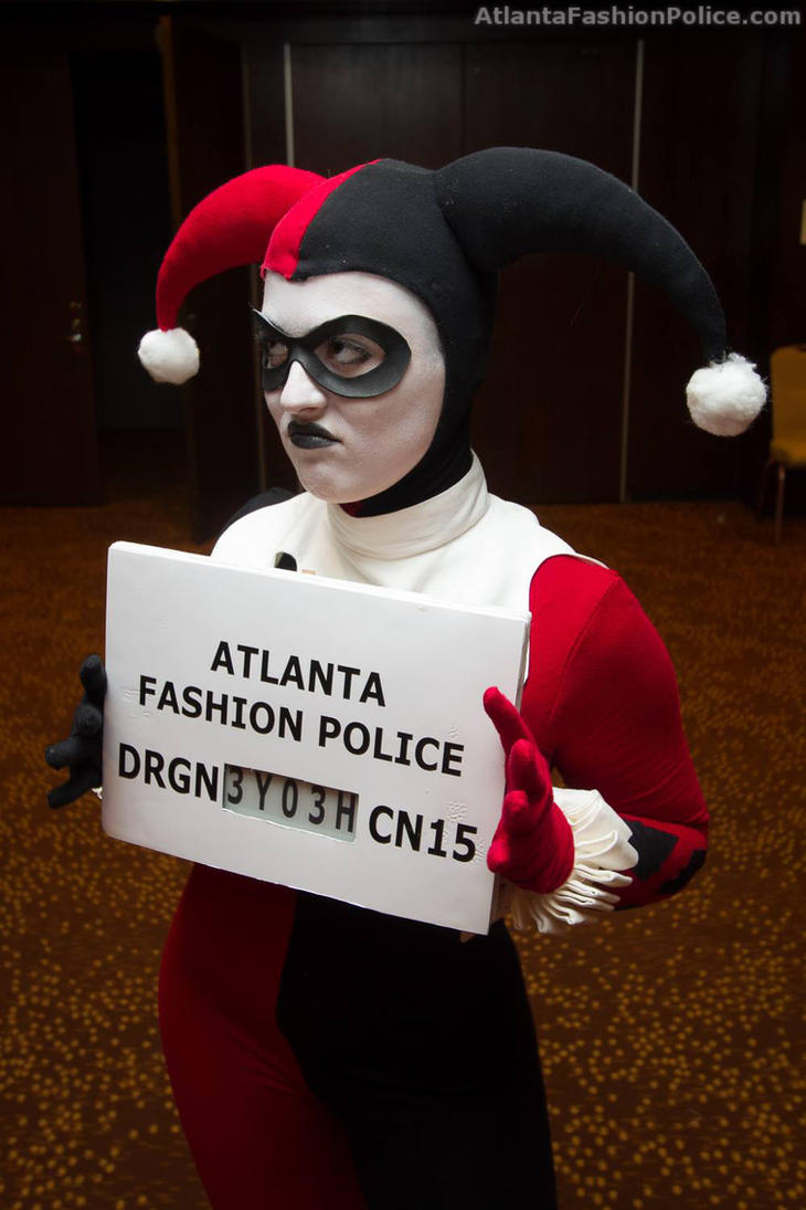 Harley Quinn Arrested by the Fashion Police by Bebop-Angel