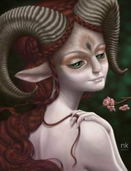 Amaelsh, forest spirit by Nekranea