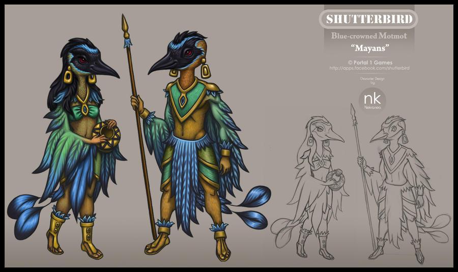 Game Character Design Apps : Motmot character design by nekranea on deviantart
