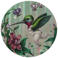 Baby Hummingbird by Nekranea