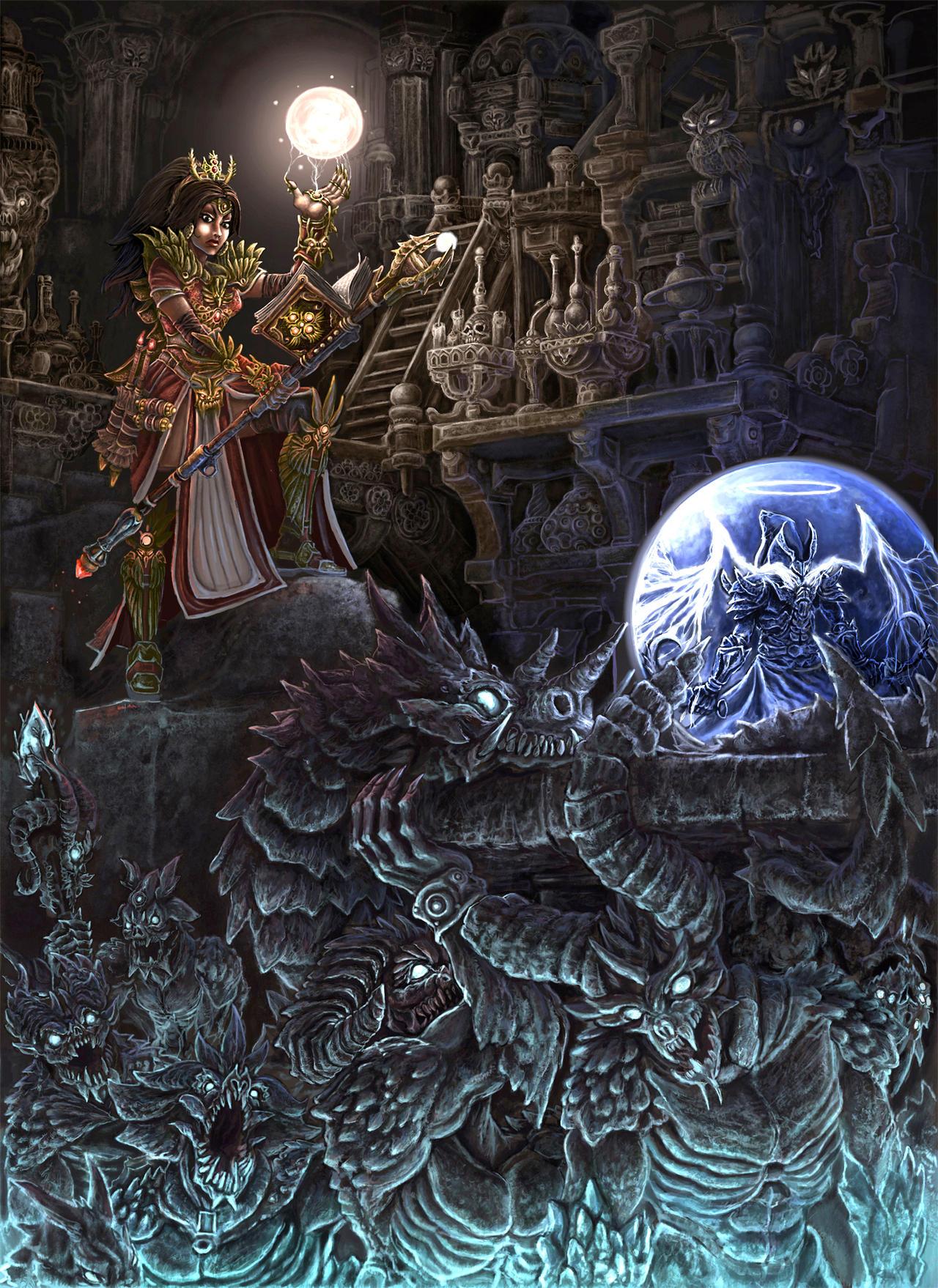 Diablo Reaper of Souls by YanQuelais