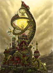 Steampunk House by YanQuelais