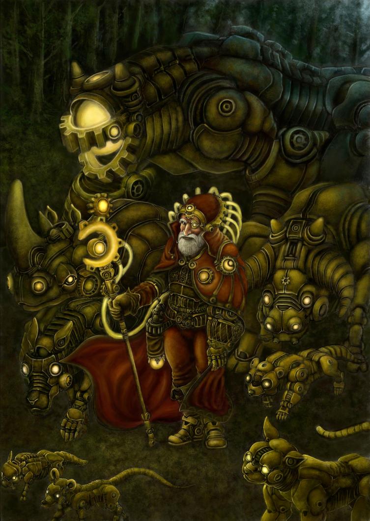 Steampunk warrior by YanQuelais