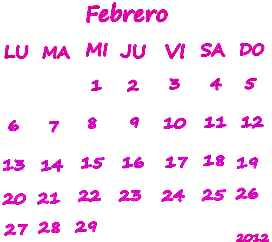 Calendario Fi.Calendario Febrero 2012 By Avrillatica On Deviantart