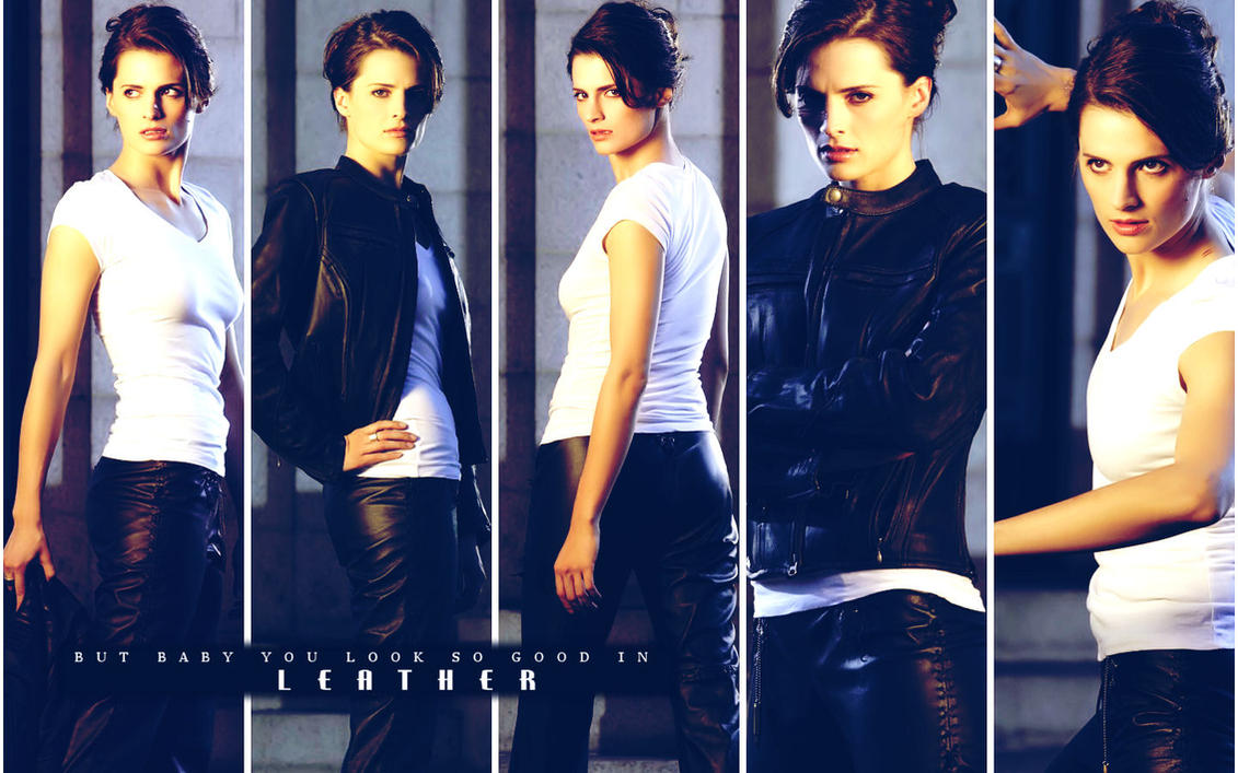 Heroes: Stana Katic in Leather by michygeary