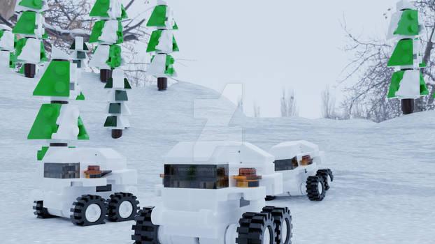 Mini Sherp ATVs LEGO Blender Render