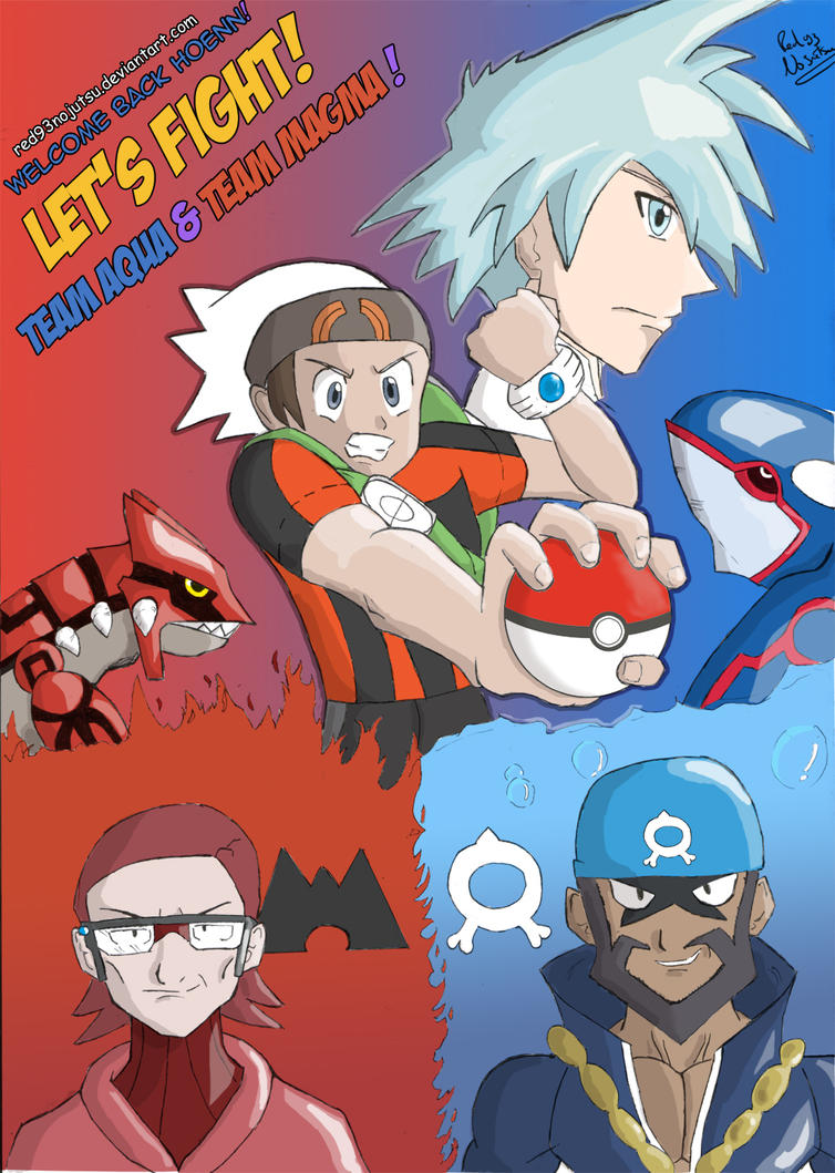 Fight vs team aqua and team magma! by Red93nojutsu