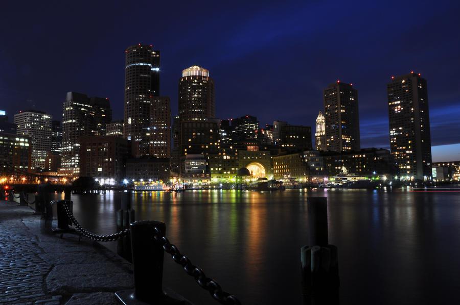 gallery for boston skyline wallpaper art