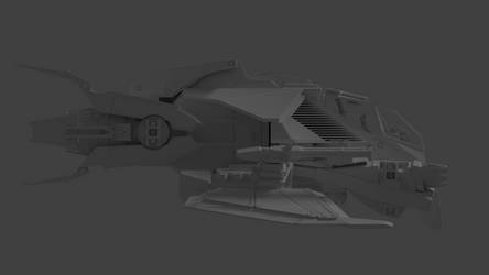 Star Citizen: DRAKE Sparrow Mk. II (side view) by WarMocK