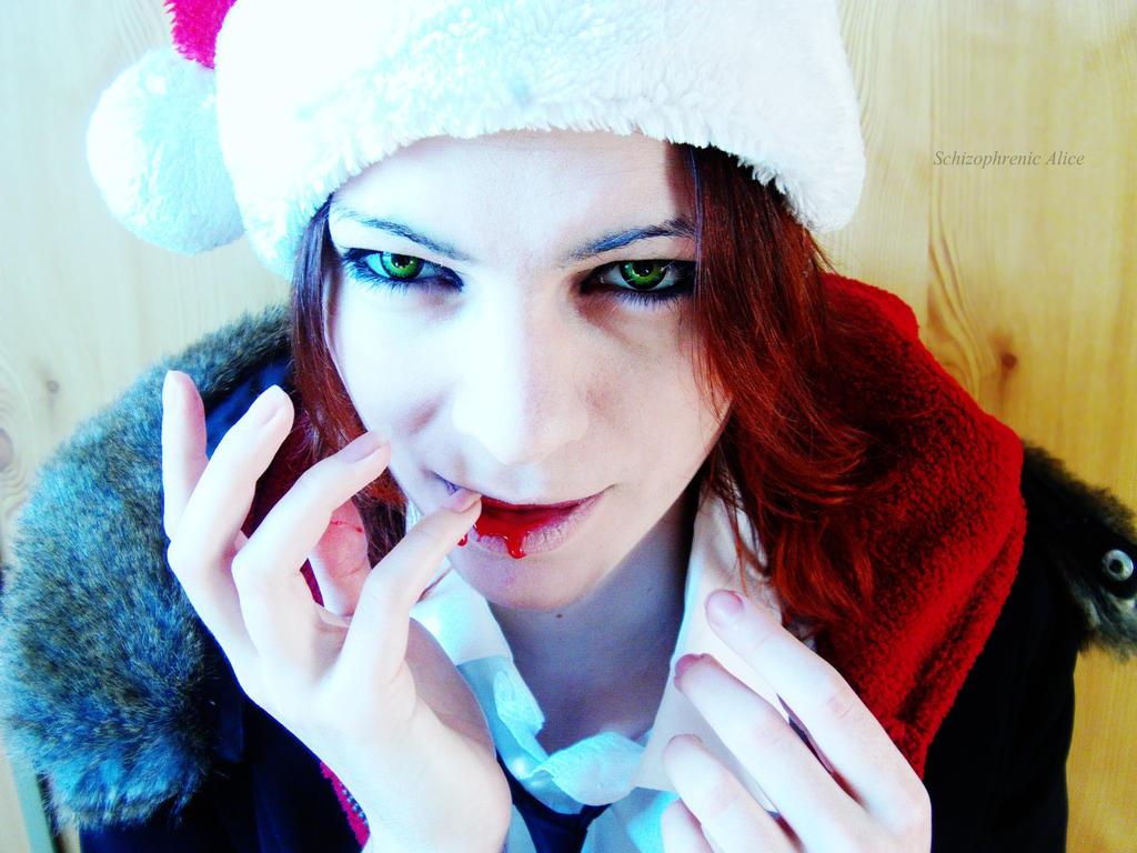 Laito Sakamaki : Bloody X-mas by SCHIZOPHRENIC-ALICE