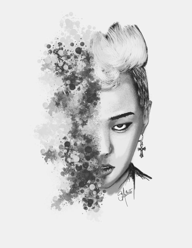 G-Dragon speedpaint by SCHIZOPHRENIC-ALICE