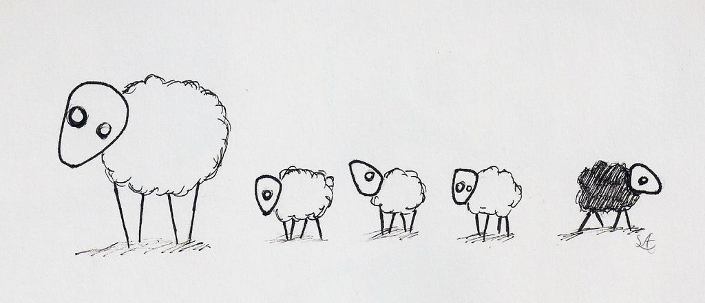 Sheeps by SCHIZOPHRENIC-ALICE