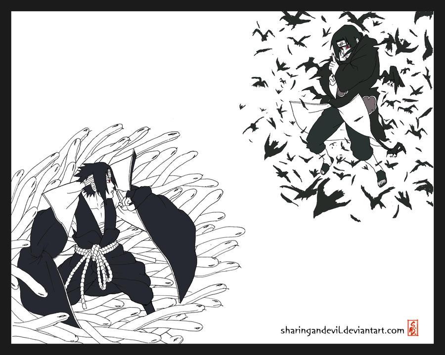 Sasuke Vs Itachi By Sharingandevil On DeviantArt